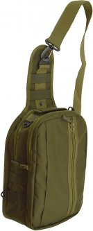Сумка-рюкзак однолямочная Kodor Колибри Олива (К0080)