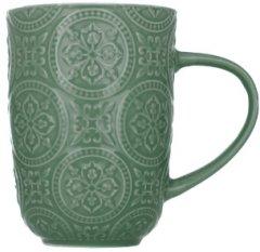 Чашка Limited Edition Pattern 410 мл Темно-зелёная (18478G)