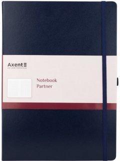 Книга записная Axent Partner Grand 295х210 мм A4 100 листов в клетку Синяя (8203-02-А)