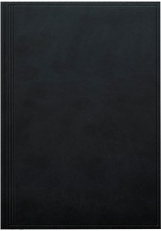 Записная книга Вrunnen Тorino А4 в клетку 96 листов Черная (73-552 238 90)