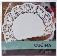 Салфетки ажурные под торт La Cucina 12 шт (C16500030)