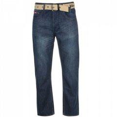 Джинси Lee Cooper Belted Jeans Mens Dark Wash, 30W 32L (10050321)