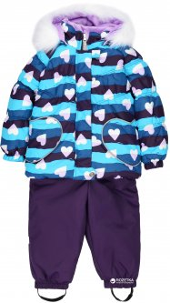 Зимний комплект (куртка + полукомбинезон) Lenne Elsa 18318A/1600 74 см Фиолетово-голубой (4741578226275)
