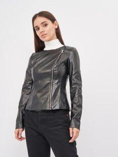 Куртка из искусственной кожи NikTan 771 42 Черная (2000000064987)