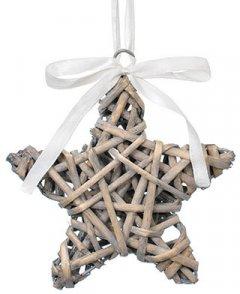 Елочная игрушка Jumi Декорация деревянная Звезда 14 см (711020)(5900410711020)