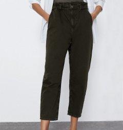 Джинси жіночі широкі з високою посадкою Field Berni Fashion (40) Зелений (55839)