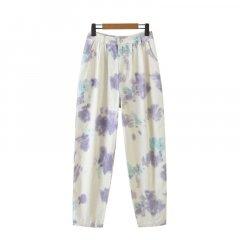 Джинси жіночі в стилі tie dye Flare Berni Fashion (L) Білий (56746)