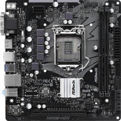 Материнская плата ASRock H410M-HDV (s1200, Intel H410, PCI-Ex16)