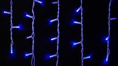 Светодиодная гирлянда DELUX ICICLE flash 75LED 2 х 0.7 м синий/белый IP44 EN (90012957)