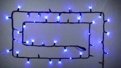 Светодиодная гирлянда DELUX STRING 100LED 10 м синийий/черный IP44 EN (90012976)
