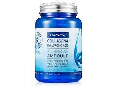Ампульная сыворотка для лица с коллагеном и гиалуроновой кислотой FarmStay Collagen & Hyaluronic Acid All-In-One Ampoule, 250мл (8809469770002)