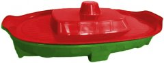 Песочница-бассейн Active Baby Кораблик с крышкой Красный/зеленый (01-03355/0301) (2000490540237)