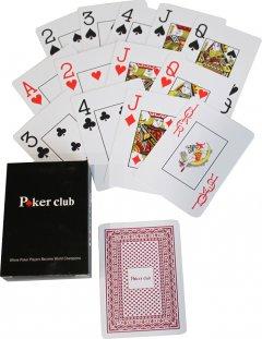 Карты игральные покерные пластиковые Duke Poker Club 54 листа 87x62 мм Красные (DN26238Red)