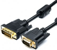 Кабель Atcom VGA - DVI-I 2 Ferite 1.8 м Black (16143)