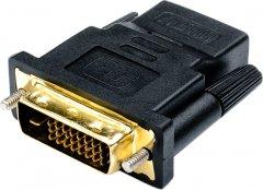 Переходник Atcom HDMI (F) - DVI (M) Black (11208)