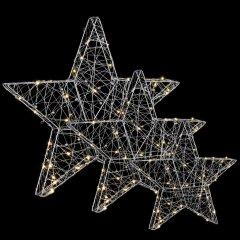 Декоративное украшение Luca Lighting из 3 фигурок Три звездочки 55x5x55 см (8718861498493)
