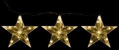 Декоративное украшение Luca Lighting из 3 фигурок Три яркие звездочки (8718861498677white)