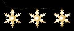 Декоративное украшение Luca Lighting из 3 фигурок Три снежинки (8718861498691matt)