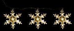 Декоративное украшение Luca Lighting из 3 фигурок Три снежинки (8718861498714white)