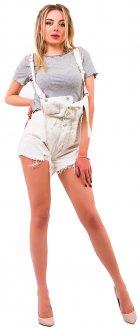 Полукомбинезон джинсовый Remix 8170 M Белый (2950006533027)