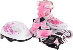 Набор роликовые коньки Action PINKY 26-29 + комплект защиты (PW117C6PW30905/26-29)