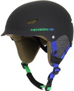 Шлем горнолыжный Tenson Park Jr Black-Blue (5013877-999)
