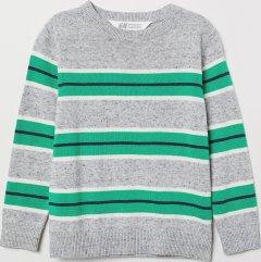 Джемпер H&M 9Z6284998 134-140 см Сірий із зеленим (hm08271248314)
