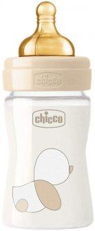 Бутылочка для кормления стеклянная Chicco Original Touch с латексной соской 0м+ 150 мл Бежевая (27710.30)