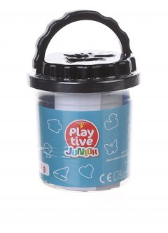 Пластилин (5*20 грамм) PLAY TIVE черный K01-111581