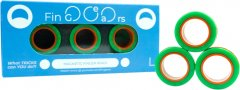Магнитные кольца FinGears Magnetic Rings Sets Size L Green-Orange (FG380LGROR)