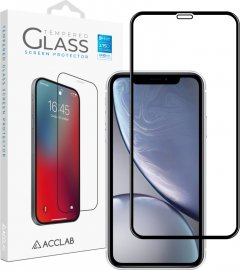 Защитное стекло ACCLAB Full Glue для Apple iPhone XR/11 Black (1283126508196)