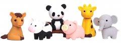 Набор ластиков Iwako для карандаша Зоопарк 6 шт (ER-BRI018) (4991685201010)
