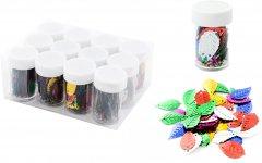 Набор декоративных пайеток Angel Gifts Листочки 25х14х1 мм 12 шт Разноцветный (Я44291_AG1180_12)
