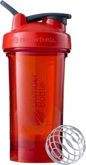 Спортивная бутылка-шейкер BlenderBottle Pro24 Tritan с шариком 710 мл Красная (Pro24 Red)