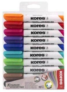 Набор маркеров Kores для белых досок 1-3 мм 10 цветов (K20800)