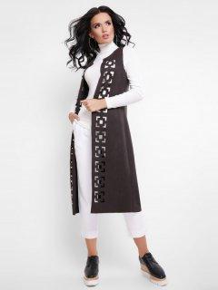 Накидка Fashion Up Abstract KD-1644A 42 Темно-коричневая (3000000014103)