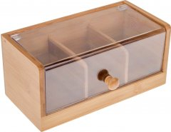 Органайзер для столовых принадлежностей на 3 отсека Lora NRW44STAY 21.8х13х10 см (72-133)