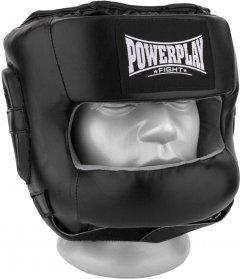 Боксерский шлем PowerPlay 3067 c бампером PU + Amara S Черный (PP_3067_S_Black)