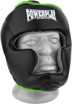 Боксерский шлем PowerPlay 3068 PU + Amara XS Черно-зеленый (PP_3068_XS_Black/Green)