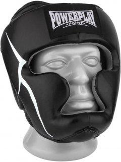 Боксерский шлем PowerPlay 3066 PU + Amara XL Черный (PP_3066_XL_Black)