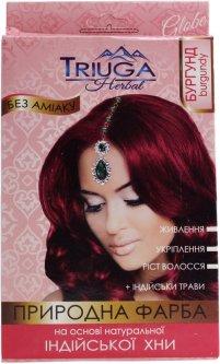 Натуральная краска для волос на основе хны Triuga Herbal Бургунд 25 г (8908003544144)