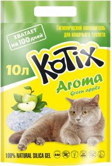 Наполнитель для кошачьего туалета Kotix Aroma Green Apple Силикагелевый впитывающий 3.5 кг (10 л) (6930095837479)
