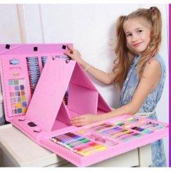 Набор для рисования и детского творчества в чемодане из 208 предметов Розовый