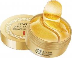 Гидрогелевые патчи для кожи вокруг глаз с ионами золота и экстрактом водорослей Venzen 80 г (6941349315063)
