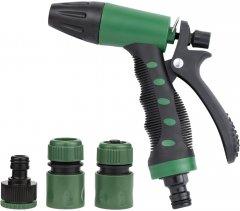 Набор для полива Grad: пистолет распылитель 2-х режимный 2 коннектора + адаптер (5012485)
