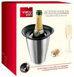 Ведро-охладитель для бутылки шампанского Vacu Vin Active Cooler Champagne Elegant Stainless Steel (3647360)