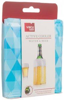 Охладитель для бутылки пива Vacu Vin Active Cooler Water & Beer Diamond Blue (38548606)