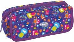 Пенал мягкий Cool For School Совы 2 отделения Фиолетовый (CF86629)