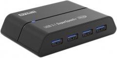 USB-хаб STLab USB 3.1 Gen2 Type-C - 4 порта USB-Type-A, с блоком питания 2A/5В (U-1690)