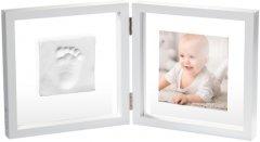 Набор для создания отпечатка ручки и ножки малыша Baby Art Двойная рамка Прозрачная с отпечатком (3601095800) (3220660304554)